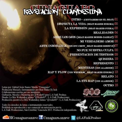 """02.- Disfruta La Vida (Cunaguaro Anz Evc) """"Revelación Clandestina 2013"""""""