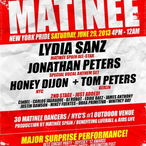 DJ Tom Peters - MATINEE NYC Pride Teaser Set 2013