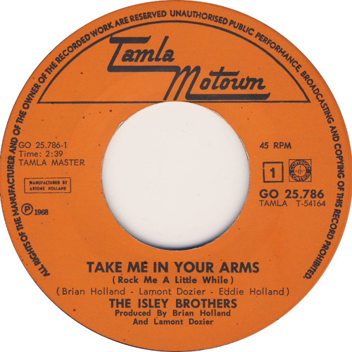ISLEY BROTHERS - TAKE ME IN YOUR ARM'S (MR STONE RE-RUB) RELEASED!!