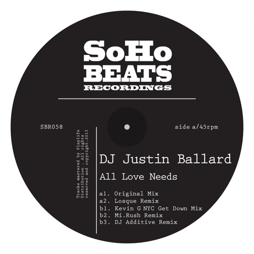 SBR058 : DJ Justin Ballard - All Love Needs (Mi.Rush Remix)
