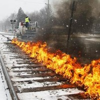 Fire on a Track