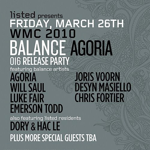 Joris Voorn - Balance 016 Release Party, WMC - March 26, 2010 - Part 2