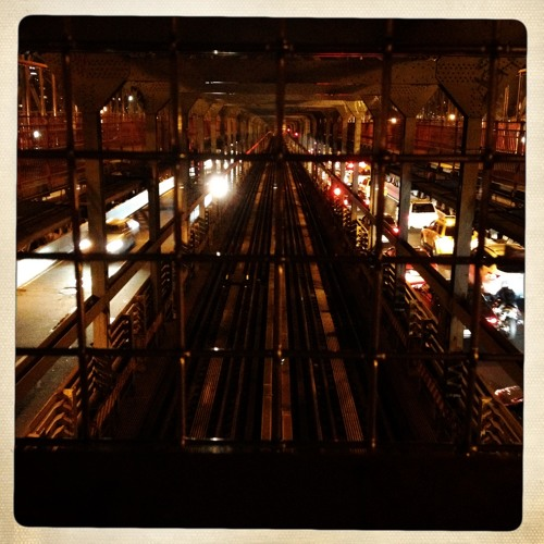 Approaching midnight on Williamsburg Bridge, New York (May 2013)