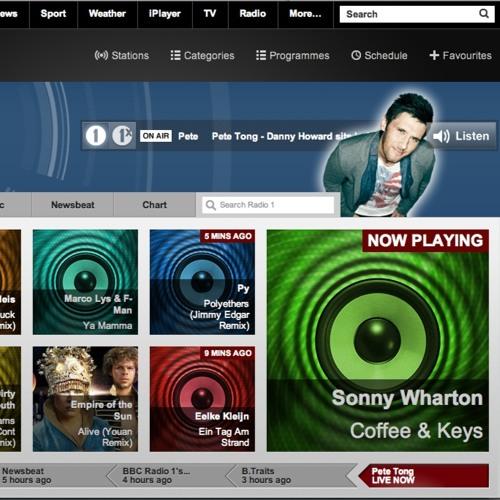 "Sonny Wharton ""Coffee & Keys"" Played on BBC Radio 1 Essential Selection"