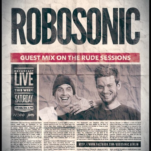 Robosonic DJ Mix - Radio NRJ Lebanon (Rude Sessions)