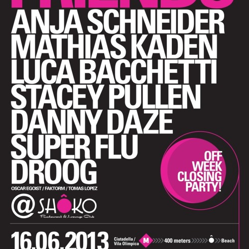 Droog (Andrei) @ Shoko Club, Barcelona (off-Sonar) June 16th, 2013
