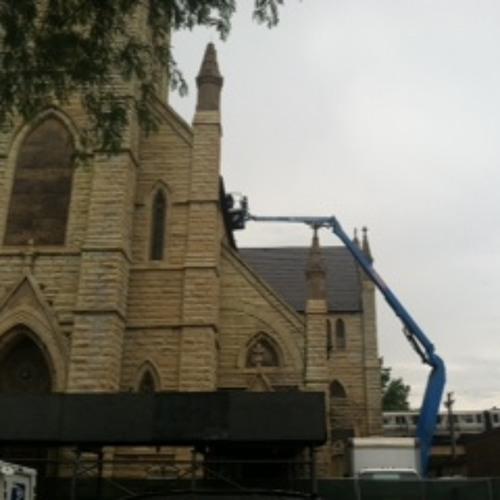 Parishioners watch as demolition of historic church begins