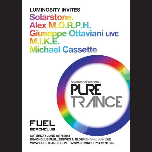 Alex  M.O.R.P.H @ Solarstone pres. Pure Trance at Beachclub Fuel, Bloemendaal [15.06.2013]
