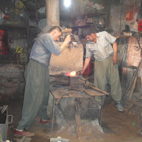 Blacksmith and Striker, Blacksmiths' Alley, Sulaymaniyah