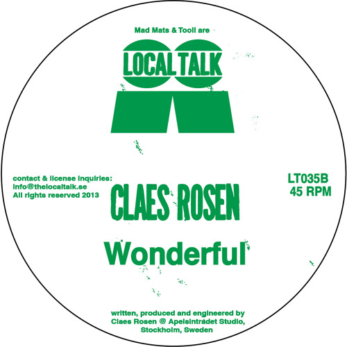 Claes Rosen  - Wonderful (LT035, Side B) (Snippet)