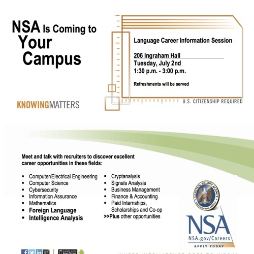 Students Question the NSA at Recruiting Session