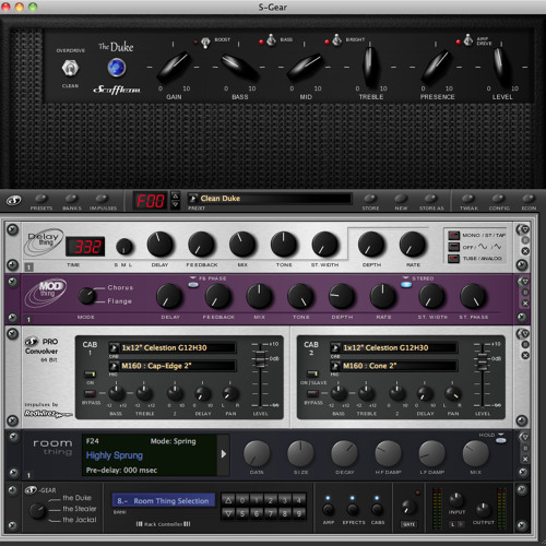 Scuffham Amps S-Gear Plugin (Clean Channel Custom Patch)