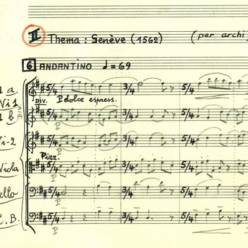 La Cattedrale - II - Thema Genève (1562) - per archi - Score in song description