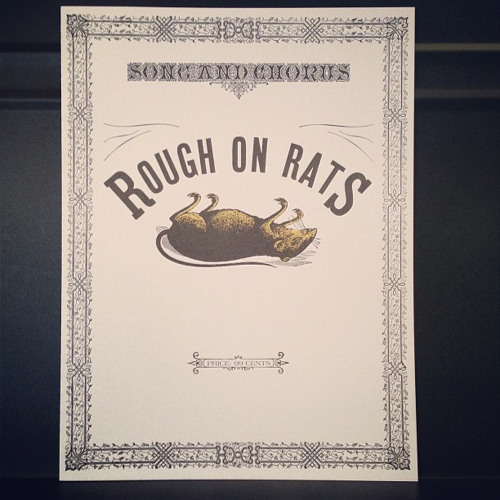 ROUGH ON RATS (from Beck's Song Reader)