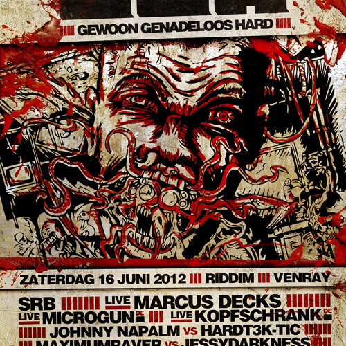 Johnny Napalm & HardT3k - Tic @ GGH - Cant Stop The Spirits! (16-06-2012)