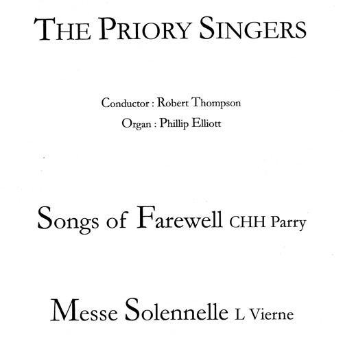 My Soul, There Is A Country (Parry), sung by the Priory Singers of Belfast