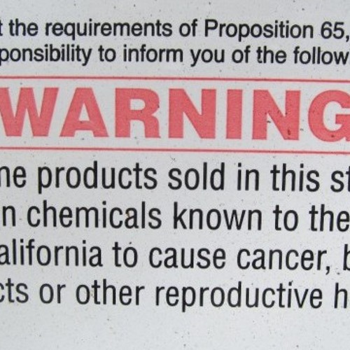 Who Profits from Proposition 65?  (Part One)