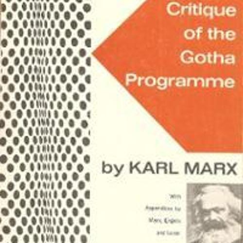 The Critique of Gotha Program - Discussion Part 1