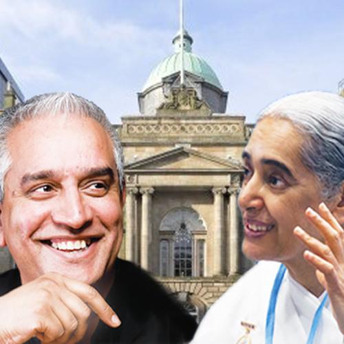 Sister Jayanti & Charan Gill MBE in Glasgow