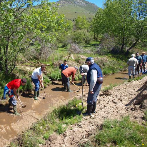 Paisajes Sonoros 106. Limpieza comunal de la Cacera del Cambrones (Segovia)