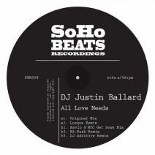 All Love Needs- OUT NOW Soho Beats Recordings