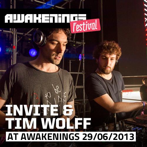 Invite & Tim Wolff at Awakenings Festival 2013