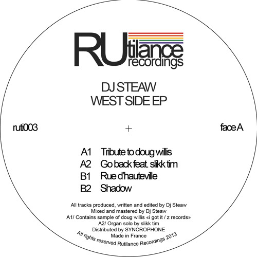 Dj Steaw - West Side EP - ruti 003