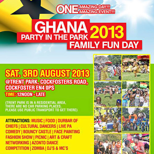 OFFICIAL MIX CD FOR GHANA PARTY IN THE PARK BY DJ NORE