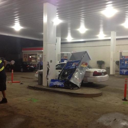 Crystal City Gas Station Car Chase Crash 2