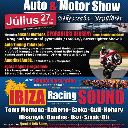 Racing Mania autó-motor show rádió reklám 2013.07.27.