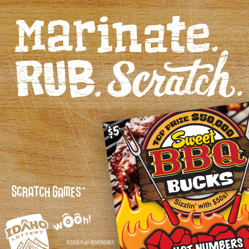 "Idaho Lottery ""BBQ Bucks 