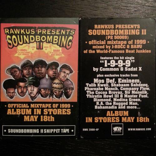 Soundbombing II offcial mixtape of 1999 by J-Rocc & Babu