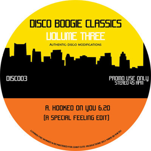 DISC003 - Disco Boogie Classic's Vol 3 - VINYL OUT NOW