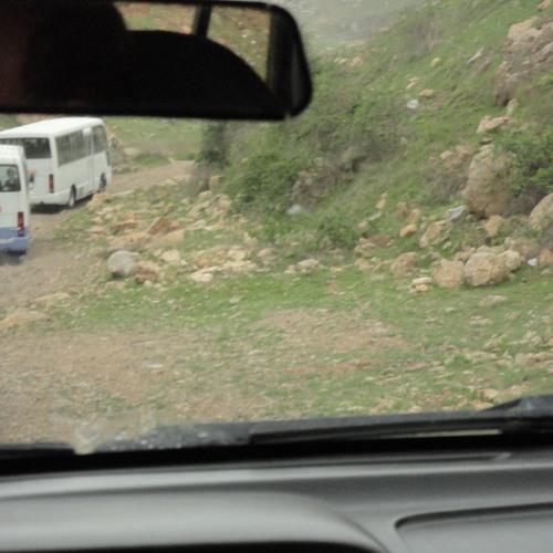 Up To The Caves. Near Sulaymaniyah City, Kurdistan