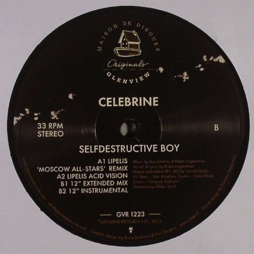 "GVR1223 — Celebrine — Selfdestructive Boy w/Lipelis Remixes 12"""