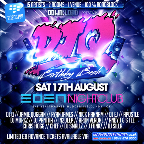 DJ Q Birthday Bash - Saturday 17th August - Eden Nightclub - Huddersfield Promo Mix