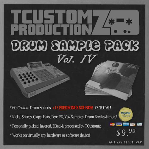 TCustomz Productionz Drum Sample Pack Vol. 4 (DEMO | www.TCustomz.com)