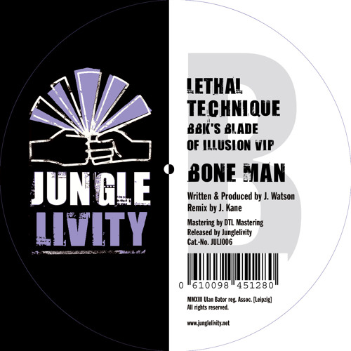 BoneMan-LethalTechnique(BBK's Blade of Illusion VIP)ForthcomingVinylRelease on JunglelivityRecords