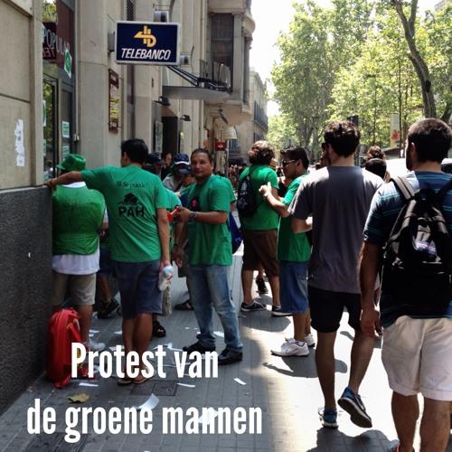Protest van de groene mannen Barcelona 130719 08