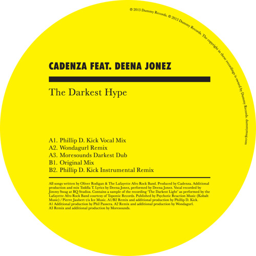 Cadenza 'The Darkest Hype featuring Deena Jonez' (Wondagurl remix)