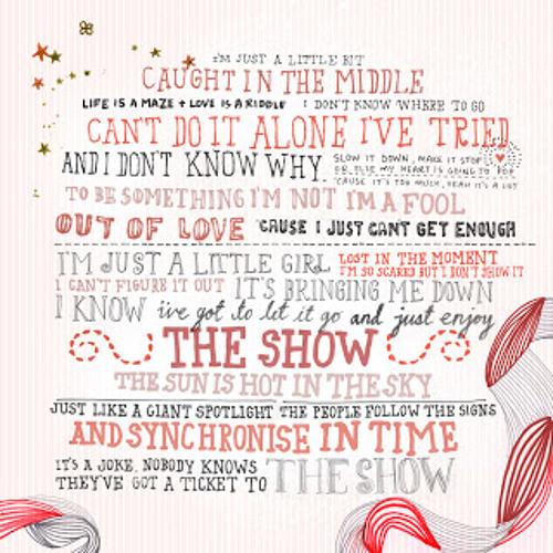 The Show- Lenka (cover)