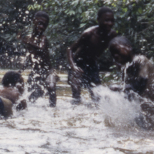 Water drumming by Bayaka women and youths, Republic of Congo, 1994 [1997 21 2 134 B 17]