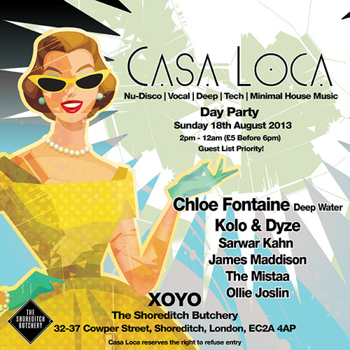 Casa Loca Promo Mix - August 2013 by KB