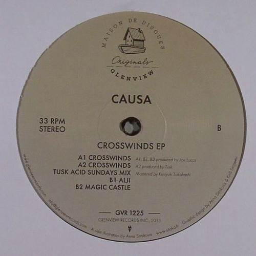 GVR1225 — Causa — Crosswinds EP w/ Tusk Wax Remix 12""