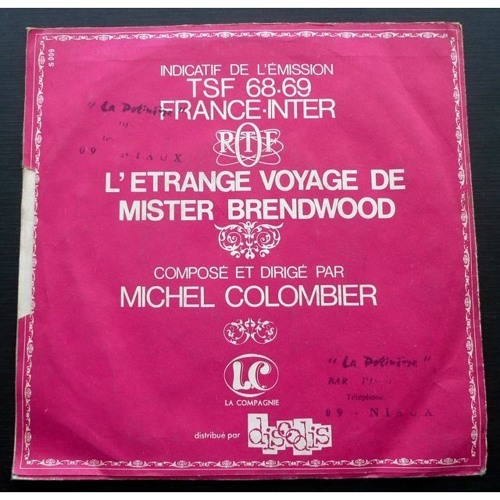 L'etrange Voyage De M. Brendwood - Générique de l'émission TSF