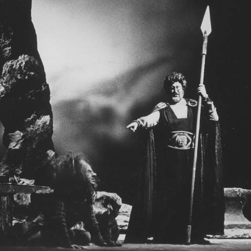 PAUL CROOK as Mime and RAIMUND HERINCX as Wotan