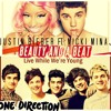 Beauty And A Beat/Live While We're Young-Justin Bieber Ft. Nicki Minaj and One Direction Portada del disco