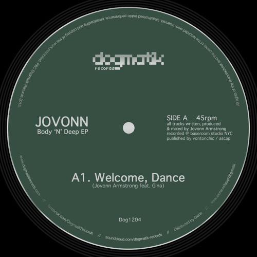[Dogmatik Records 1204] Jovonn - Welcome, Dance