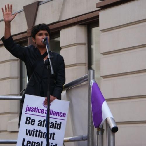 Shami Chakrabarti's Rally For Legal Aid Speech
