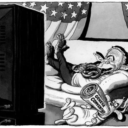 British Cartoonist Steve Bell on President George W. Bush in 2002